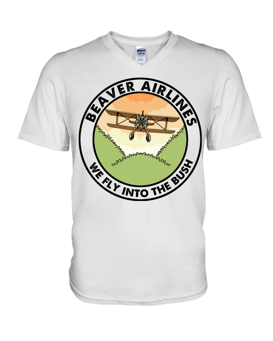 Beaver Airlines We Fly Into The Bush v-neck