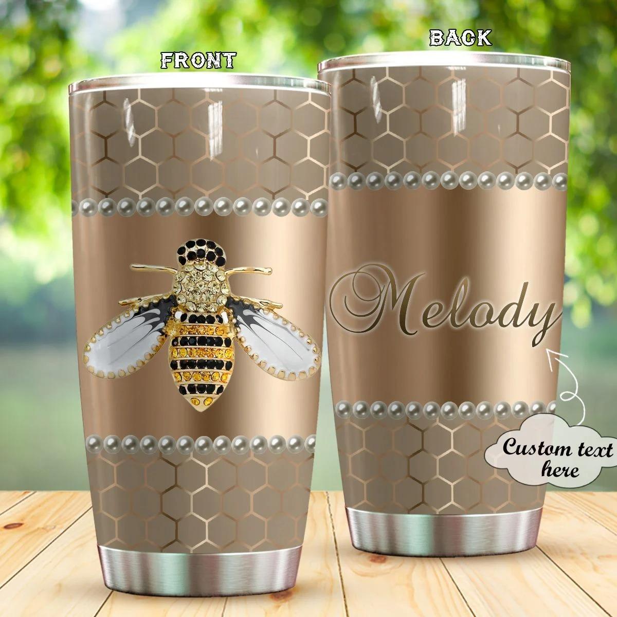 Bee Diamond Personalized Tumbler