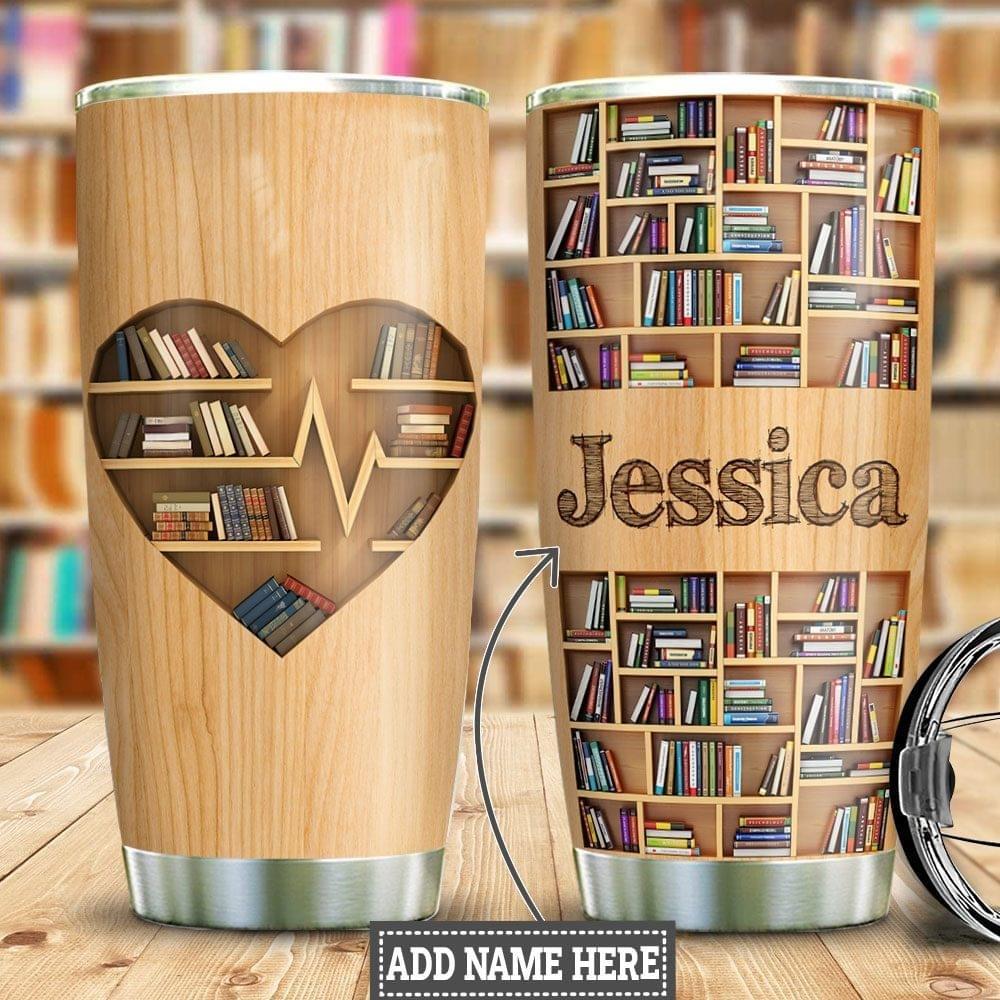 Bookshelf Personalized Tumbler
