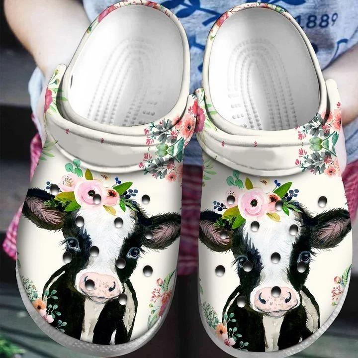Cow Crocs Crocband Clog