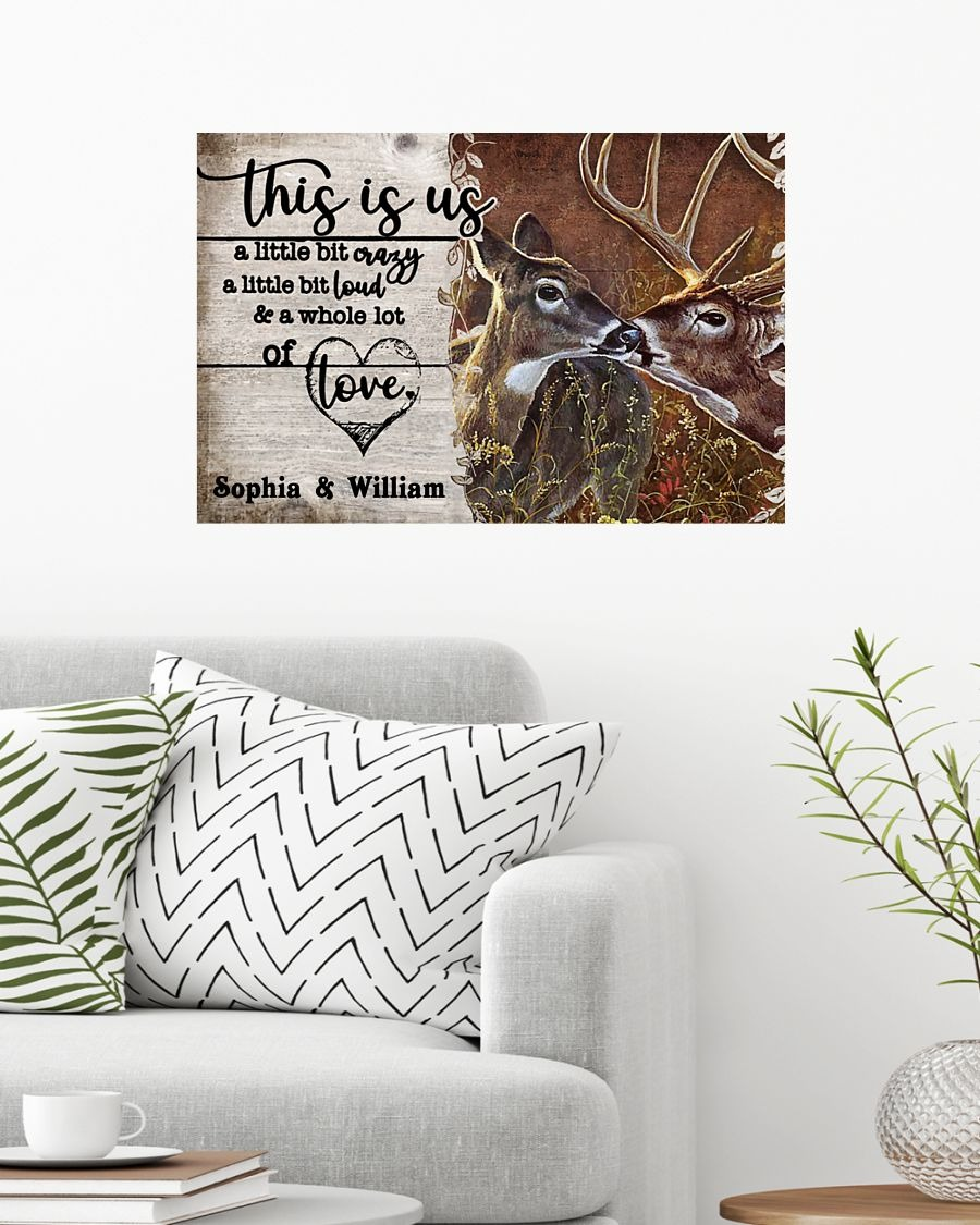 Deer This Is Us A Little Bit Crazy A Little Bit Loud And A Whole Lot Of Love Personalized Poster1
