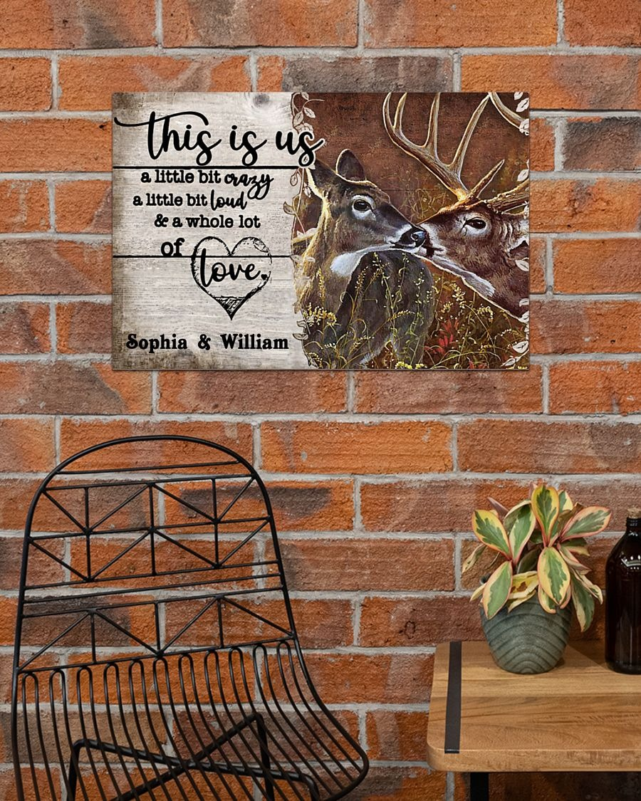 Deer This Is Us A Little Bit Crazy A Little Bit Loud And A Whole Lot Of Love Personalized Poster3
