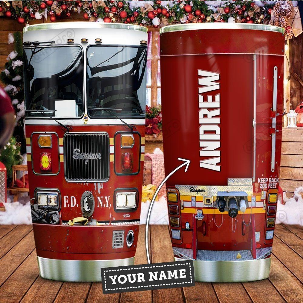Fire Truck Head Personalized Tumbler