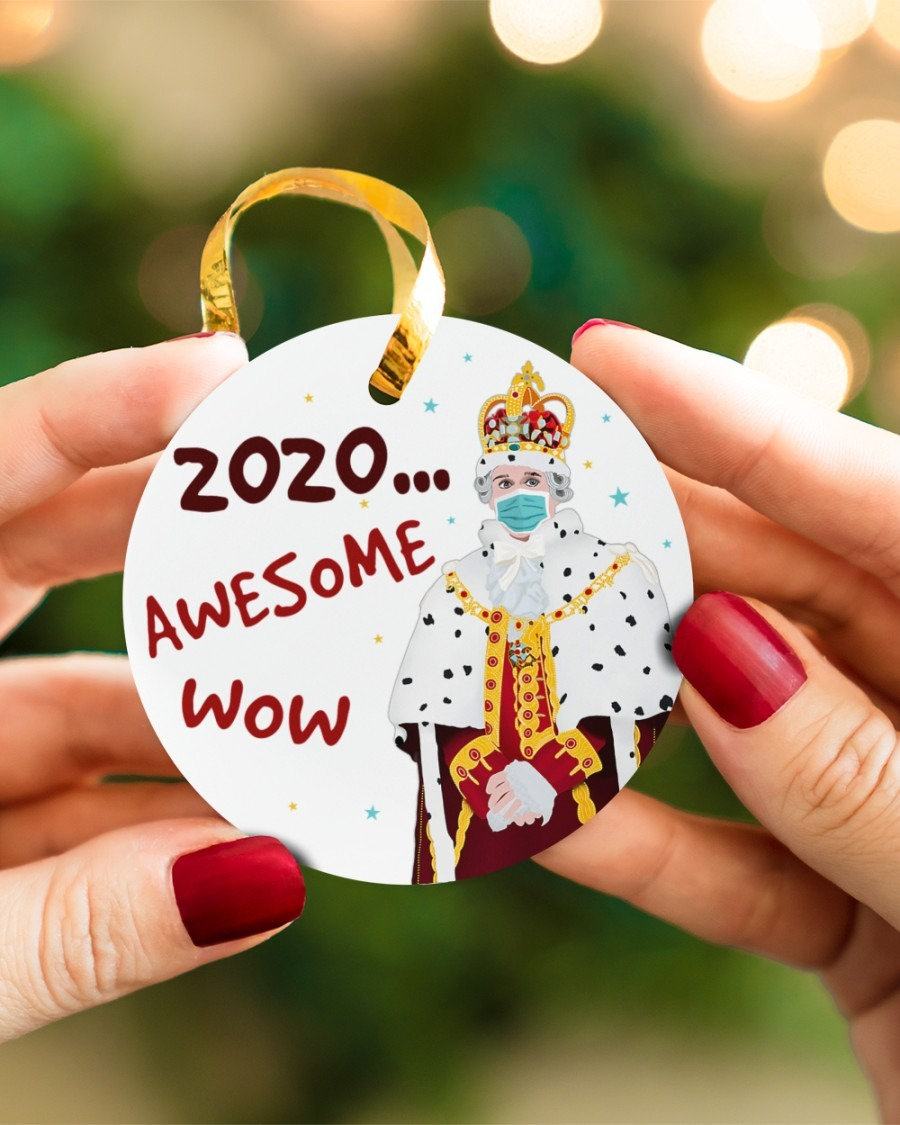 Hamilton King George 2020 Awesome Wow Ornament2