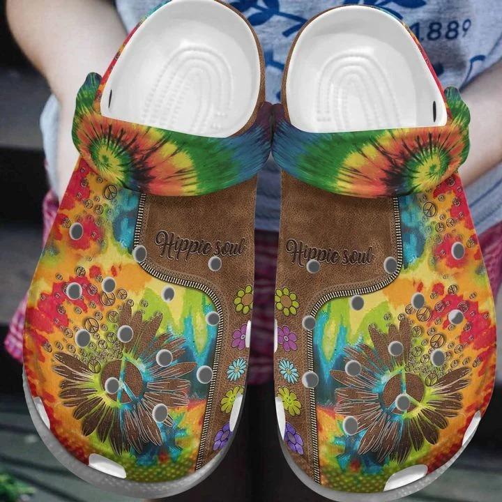 Hippie Soul Crocs Crocband Clog