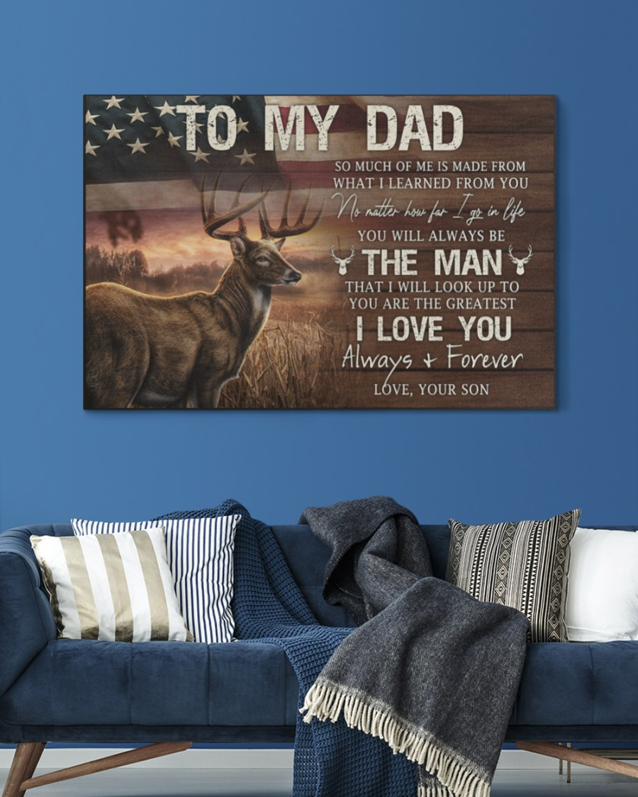 Hunting To My Dad So Much Of Me Is Made From What I Learned From Gallery Wrapped Canvas 1
