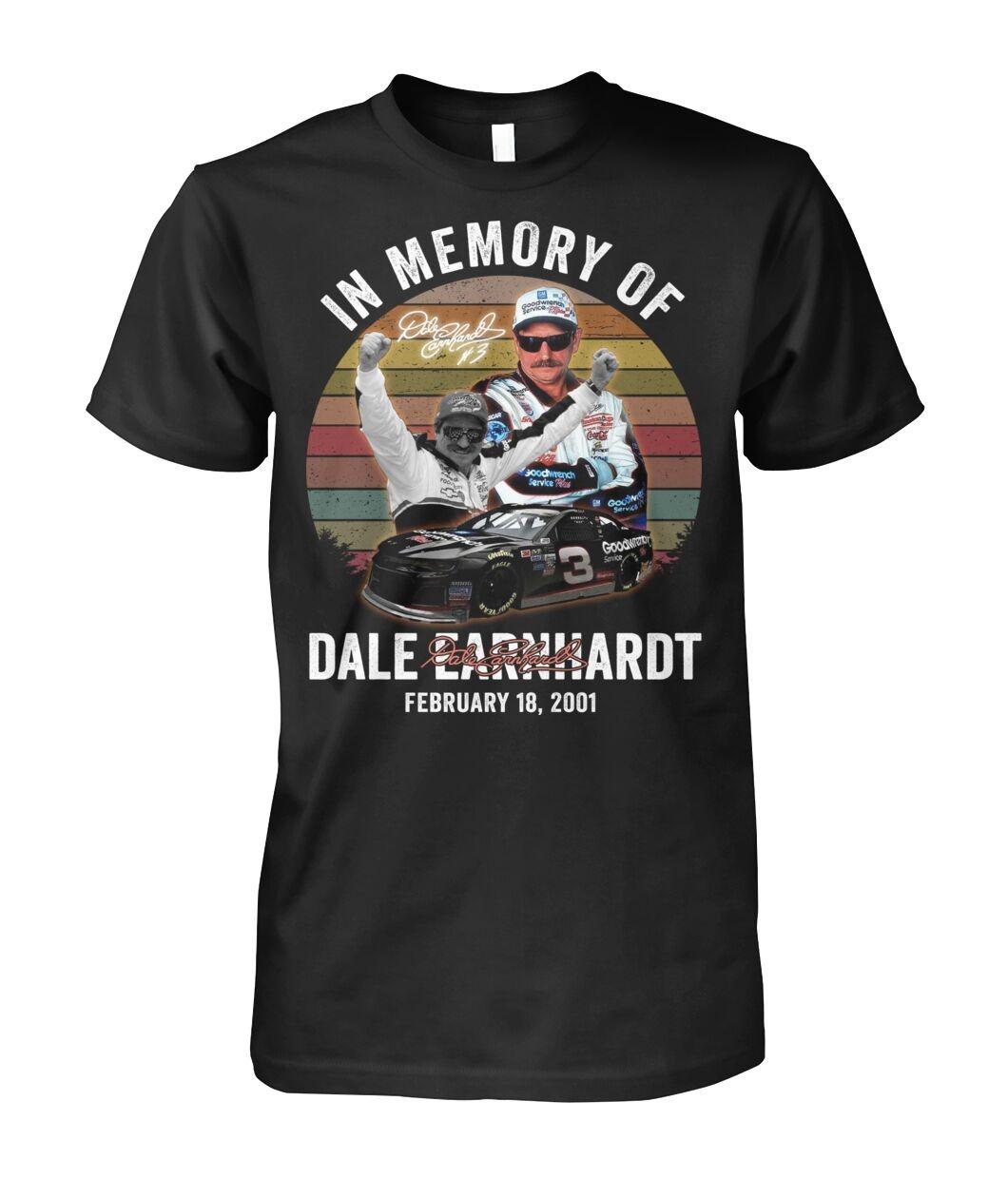 In Memory Of Dale Earnhardt February 18 2001 T-Shirt