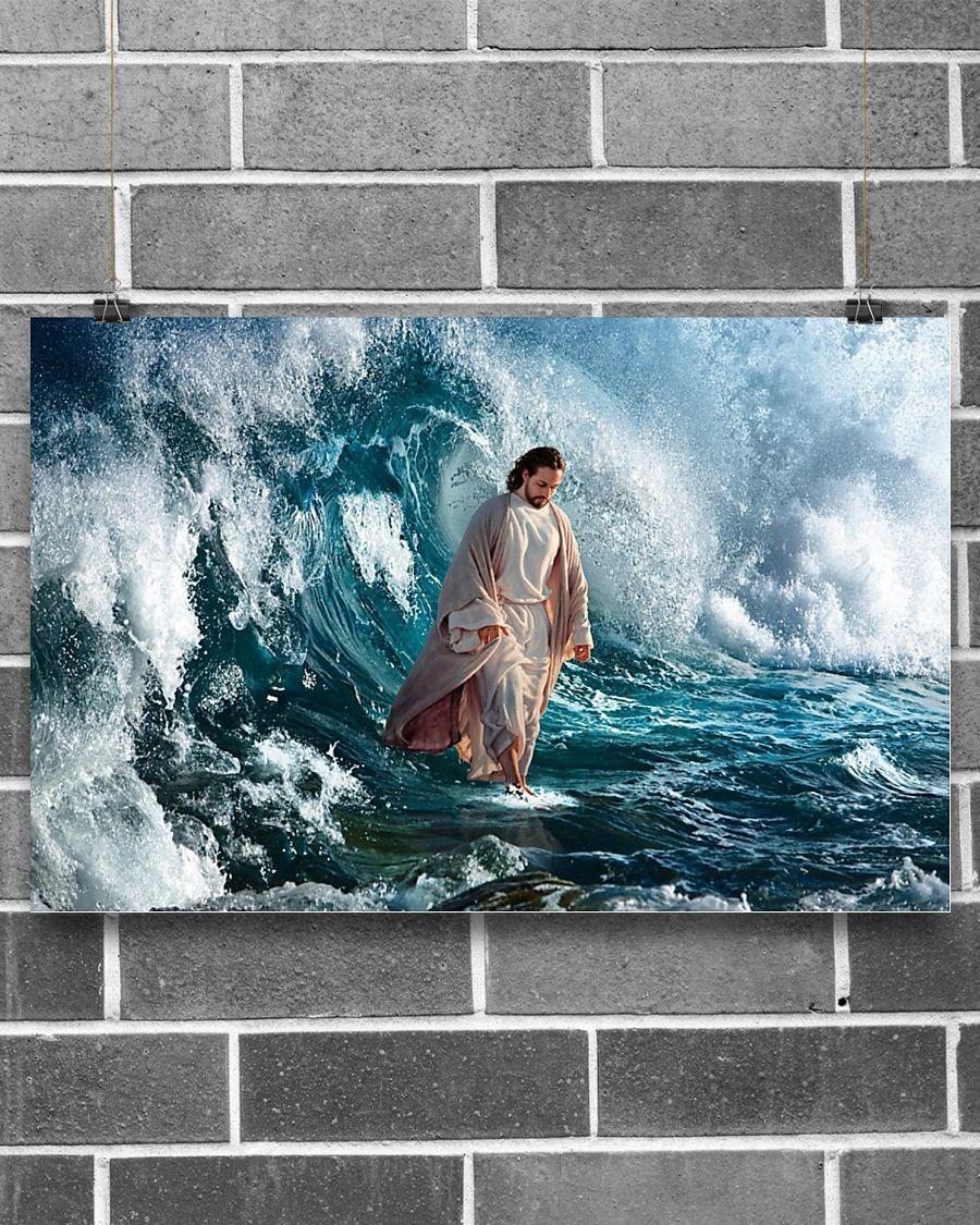Jesus walking on water poster1