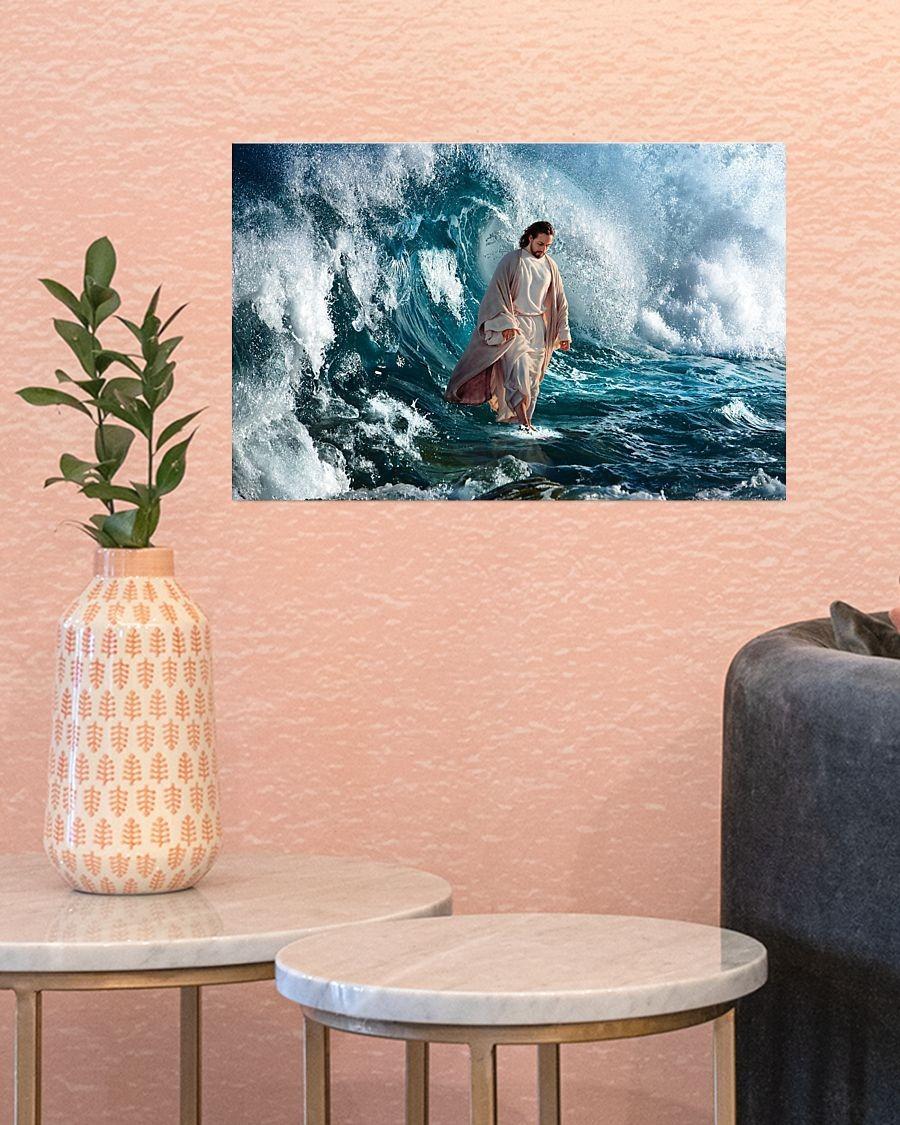 Jesus walking on water poster3