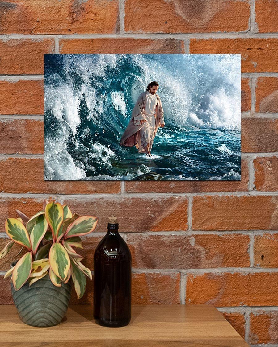 Jesus walking on water poster4