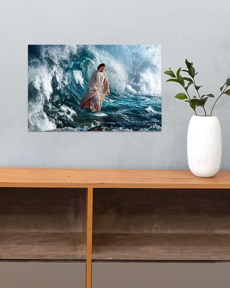 Jesus walking on water poster5