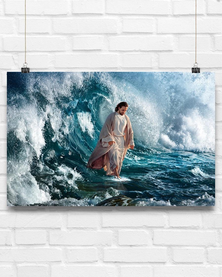 Jesus walking on water poster7