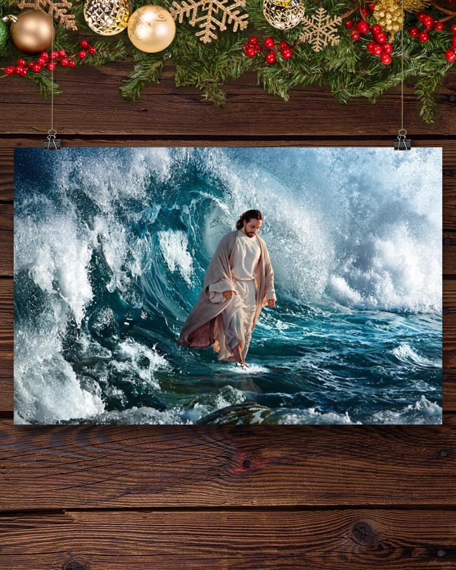 Jesus walking on water poster8
