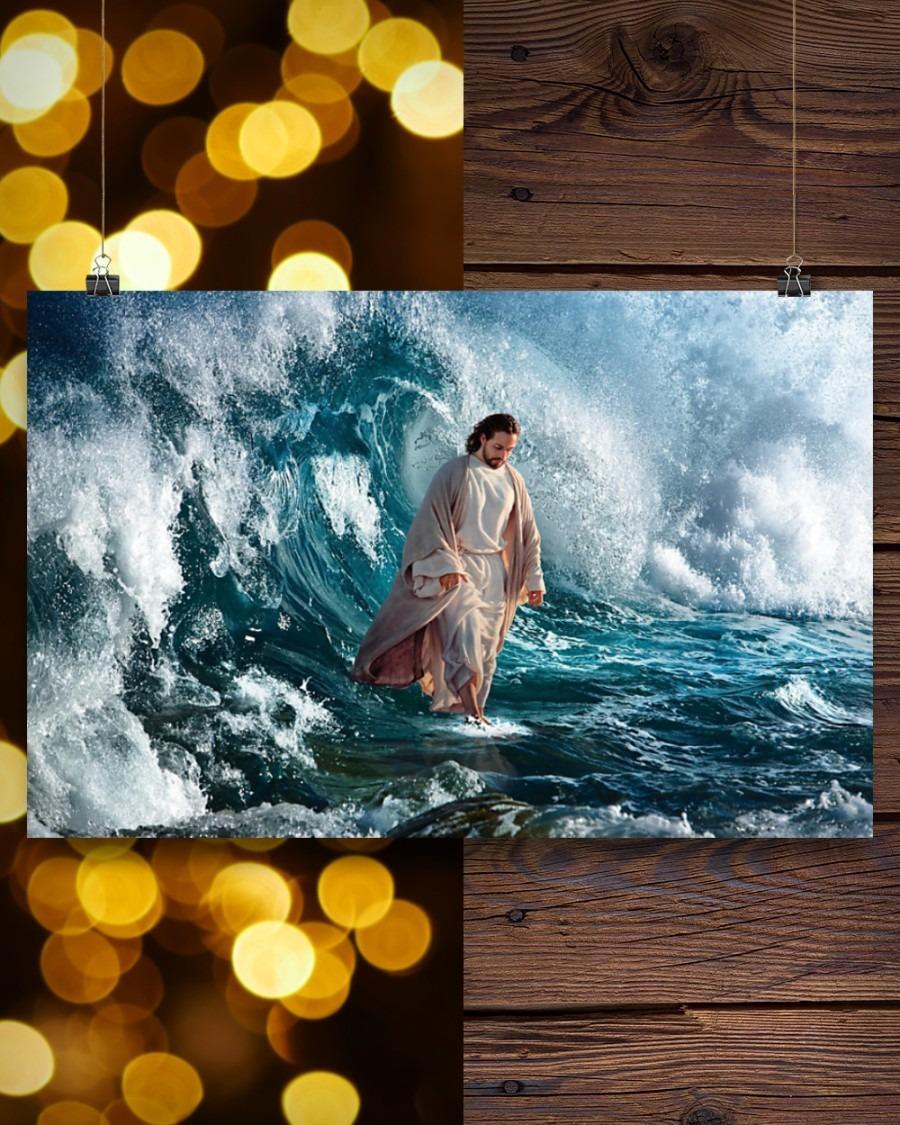 Jesus walking on water poster9