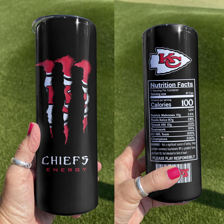 Kansas City Chiefs Monster Energy Skinny Tumbler