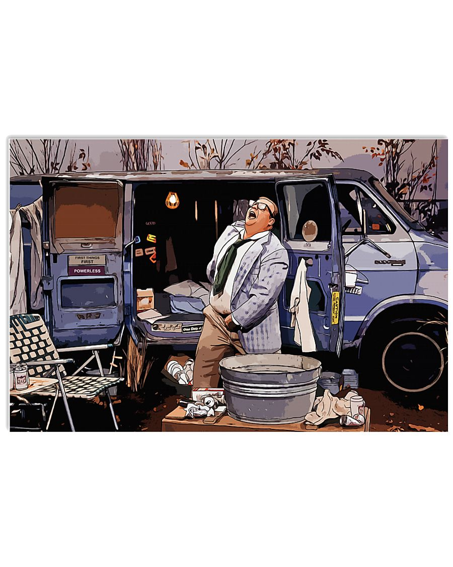 Living In A Van Down By River Poster