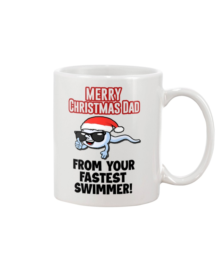 Merry Christmas Dad From Your Fastest Swimmer Mug 1