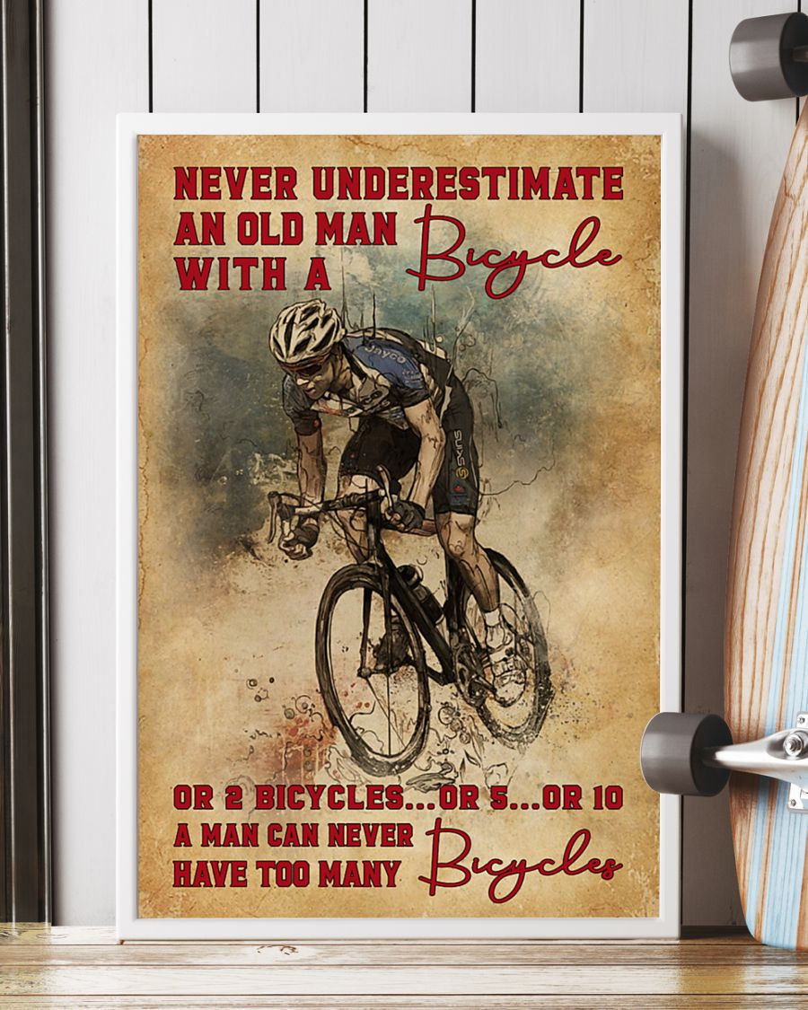 Never Underestimate An Old Man With A Bicycle Poster 4