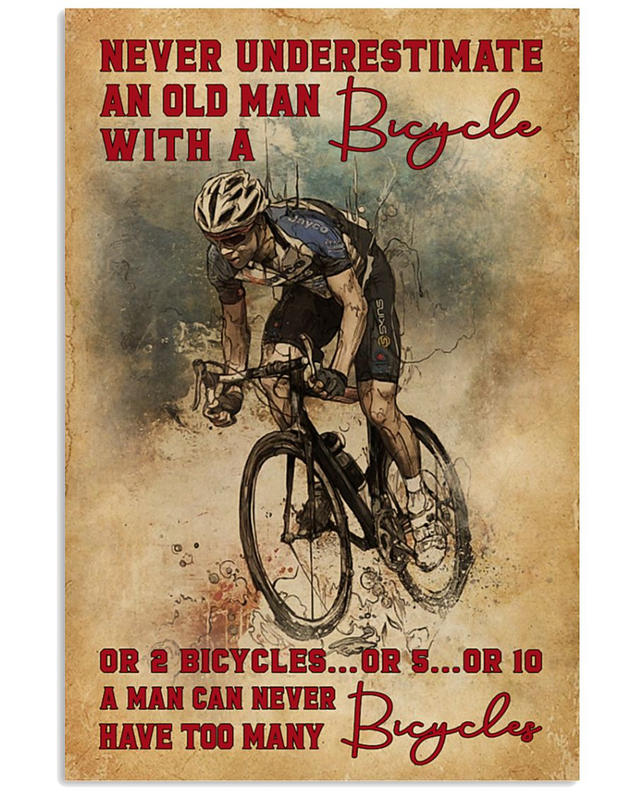 Never Underestimate An Old Man With A Bicycle Poster 5