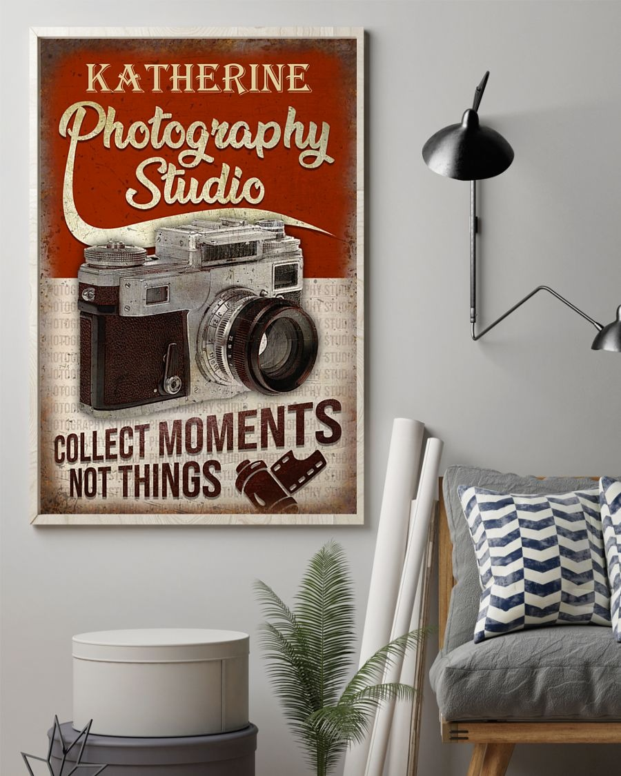 Photography Studio Collect Moments Not Things Personalized Poster1