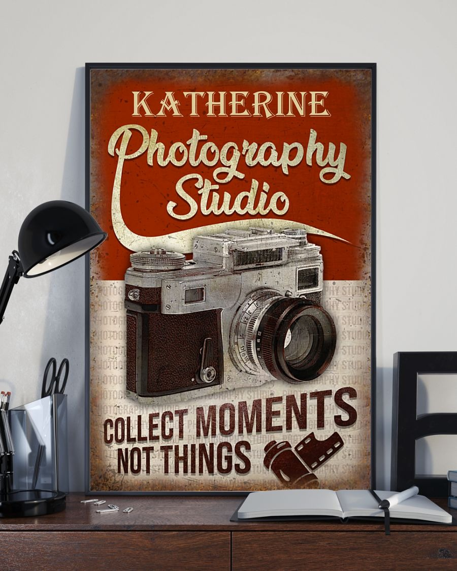 Photography Studio Collect Moments Not Things Personalized Poster3