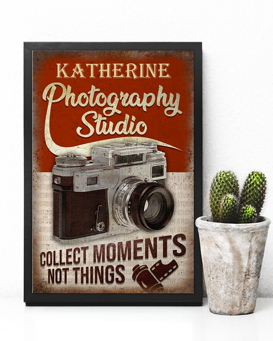 Photography Studio Collect Moments Not Things Personalized Poster5