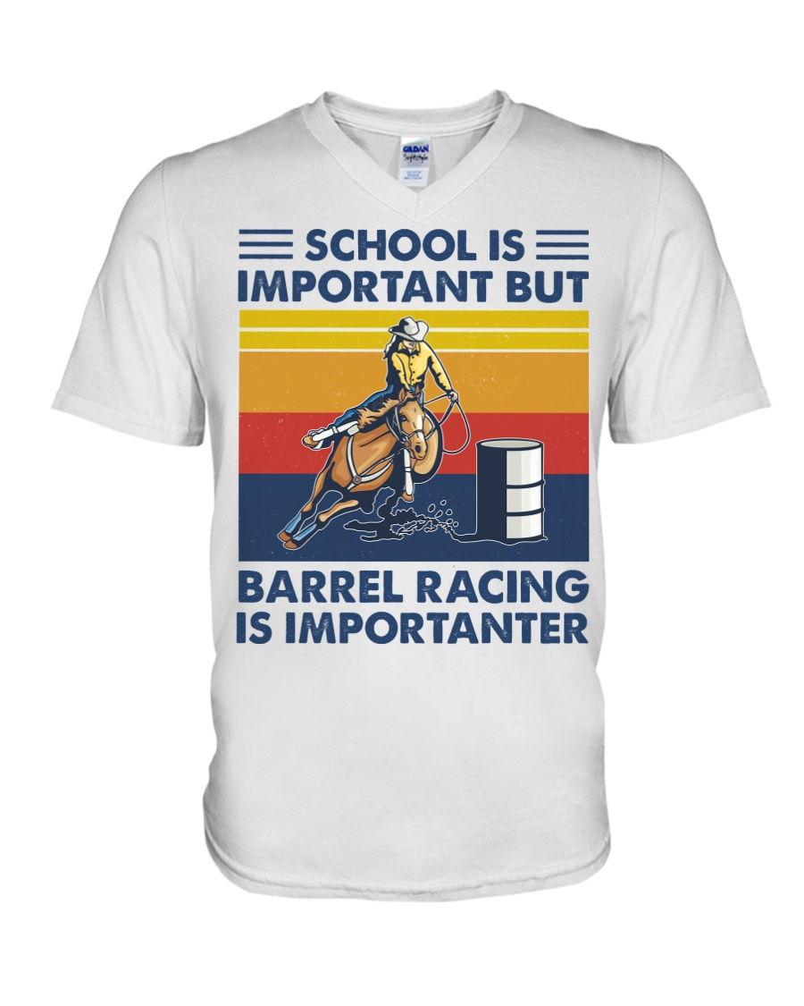 School Is Important But Barrel Racing Is Importanter v-eck