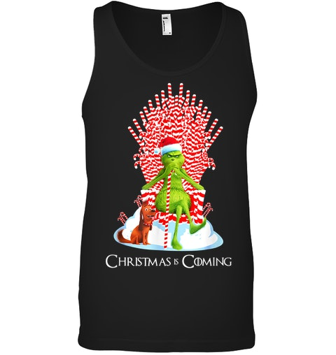 The Grinch Christmas is coming tank top