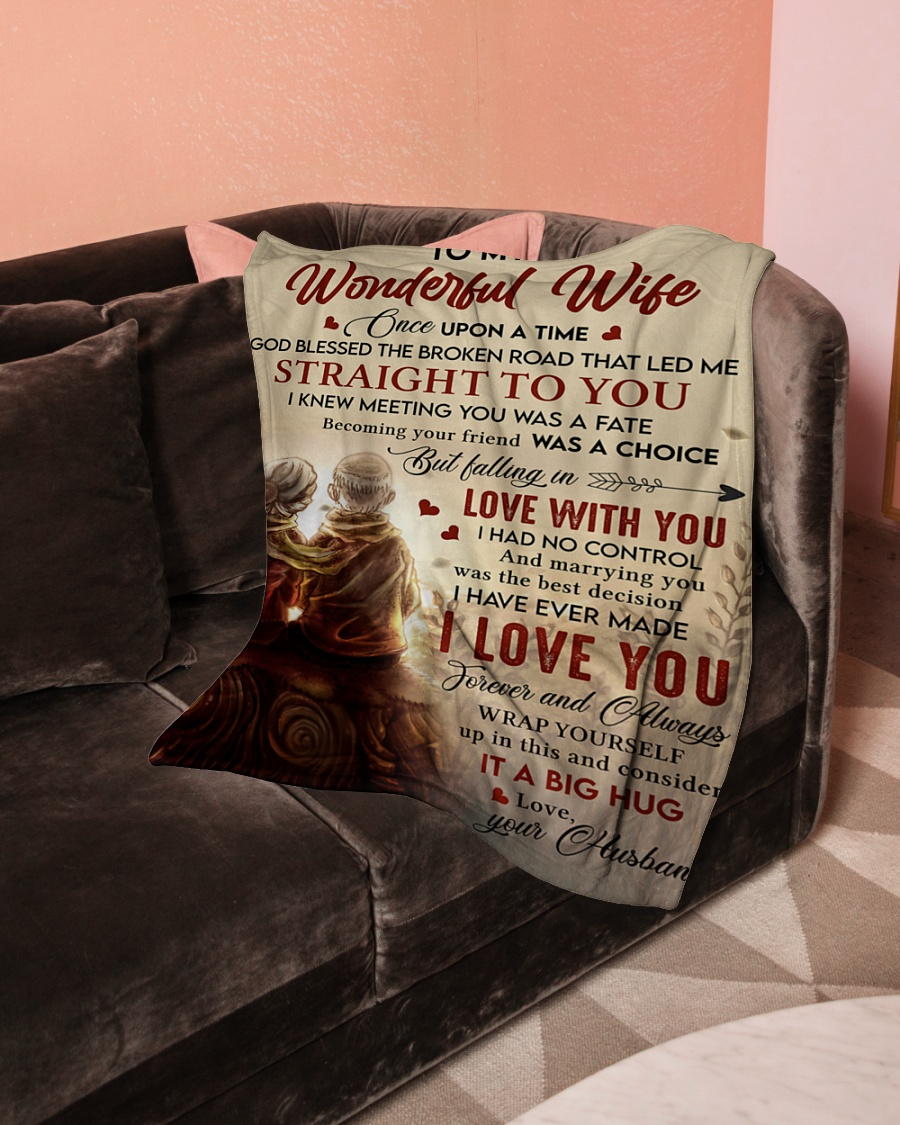 To My Wonderful Falling In Love With You I Had No Control Husband Fleece Blanket 4