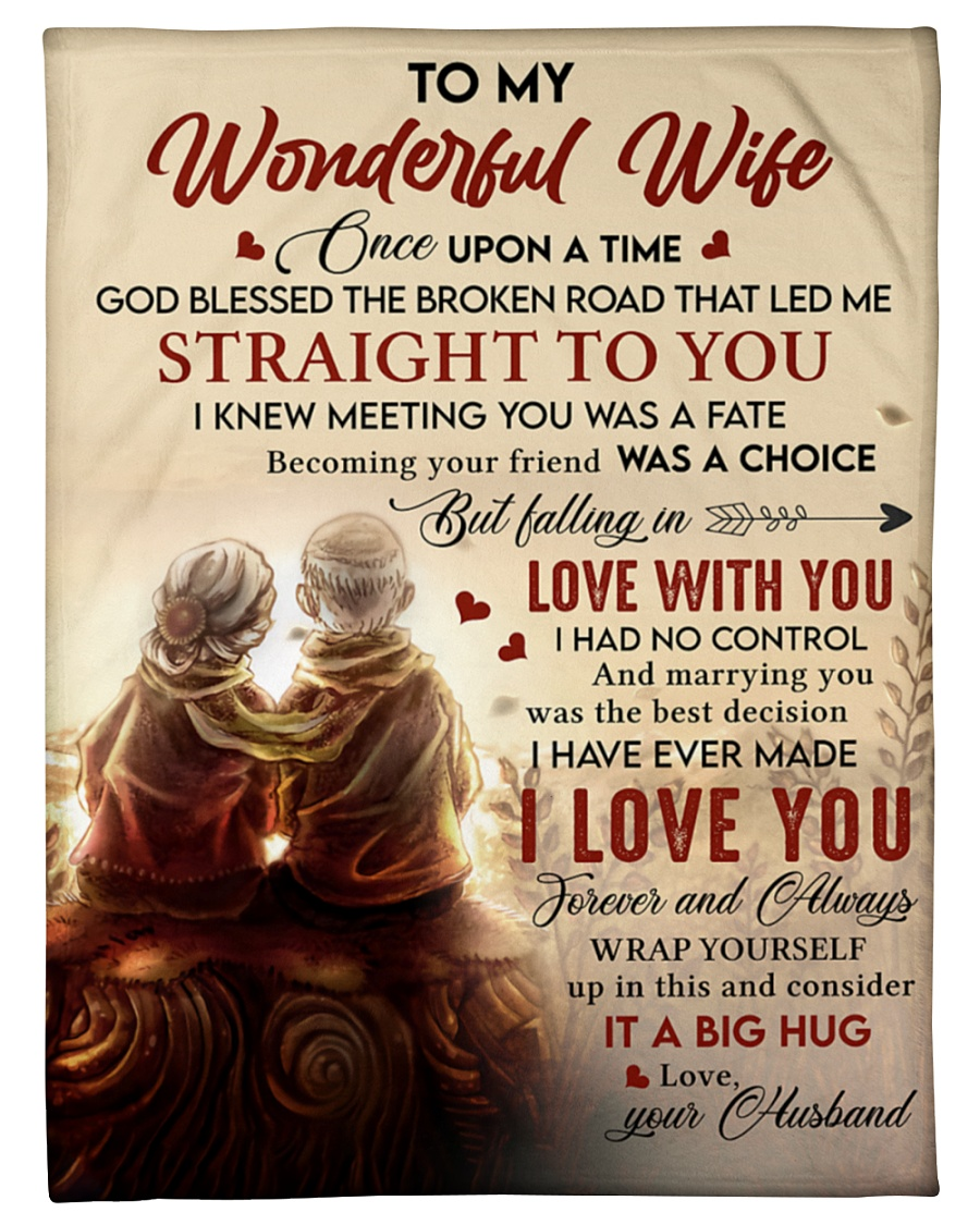 To My Wonderful Falling In Love With You I Had No Control Husband Fleece Blanket