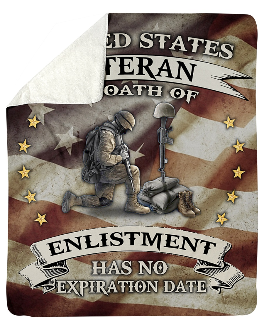 United States Veteran My Oath Of Enlistment Has No Expiration Date Fleece Blanket 1