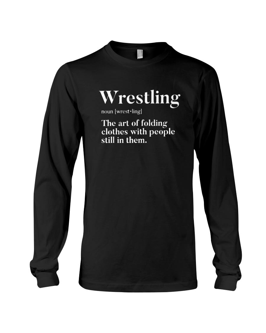 Wrestling The Art Of Folding Clothes With People Still In Them long sleeve
