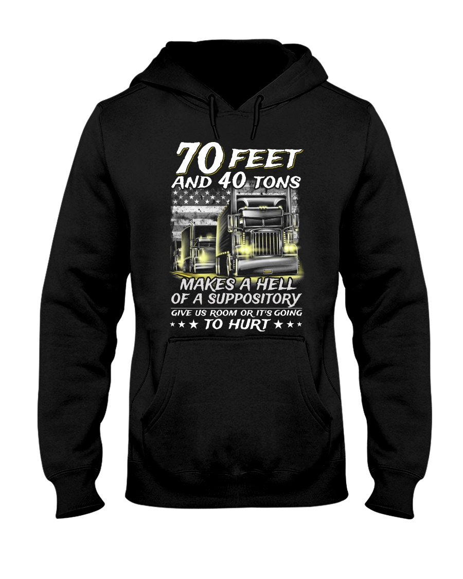 70 Feet and 40 tons makes a hell of a suppository hoodie