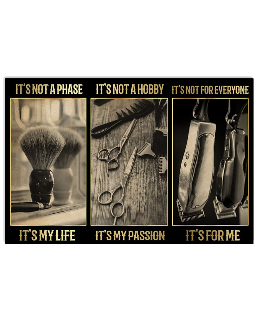 Barber It's not a phase It's my life poster