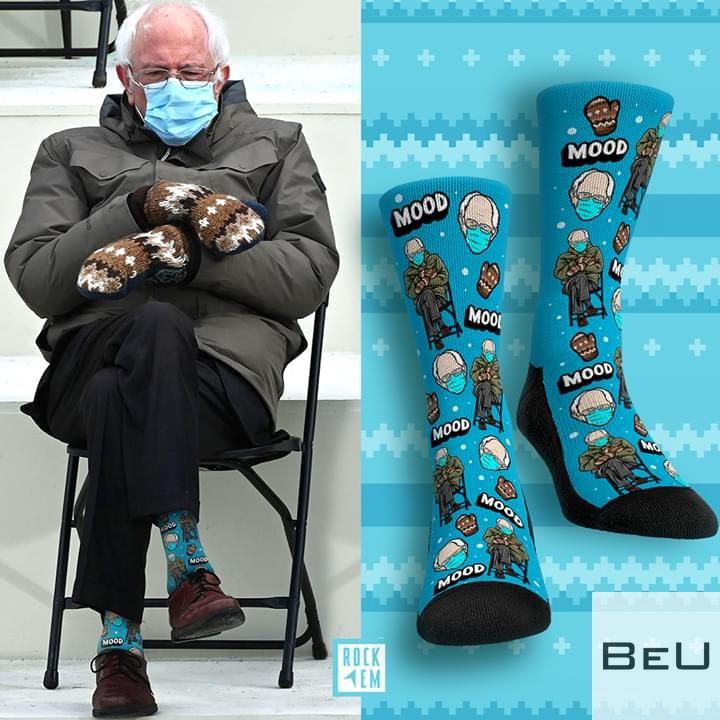 Bernie Sanders Meme Pattern Socks2