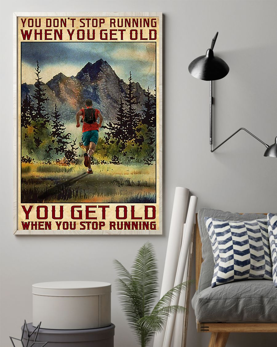 Camping You don't stop running when you get old poster2