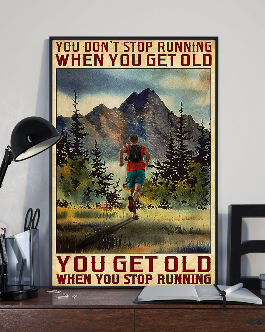 Camping You don't stop running when you get old poster3