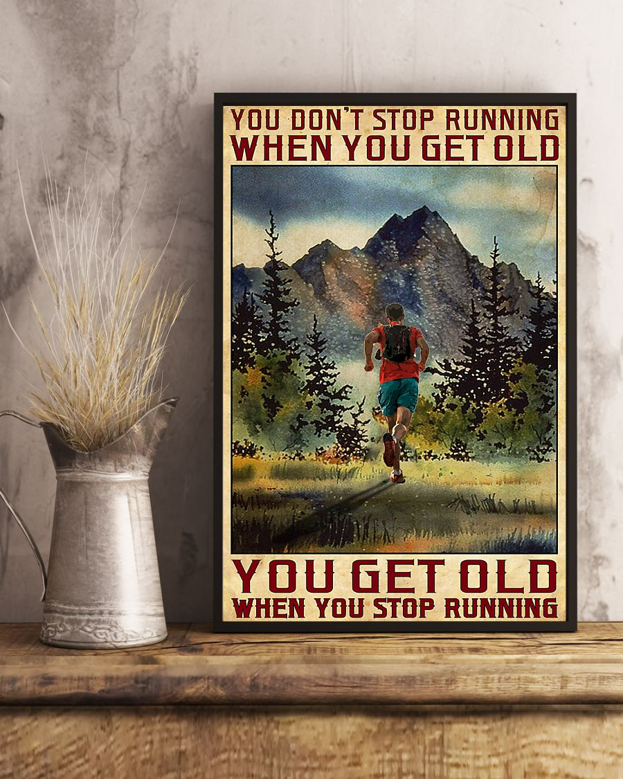 Camping You don't stop running when you get old poster4
