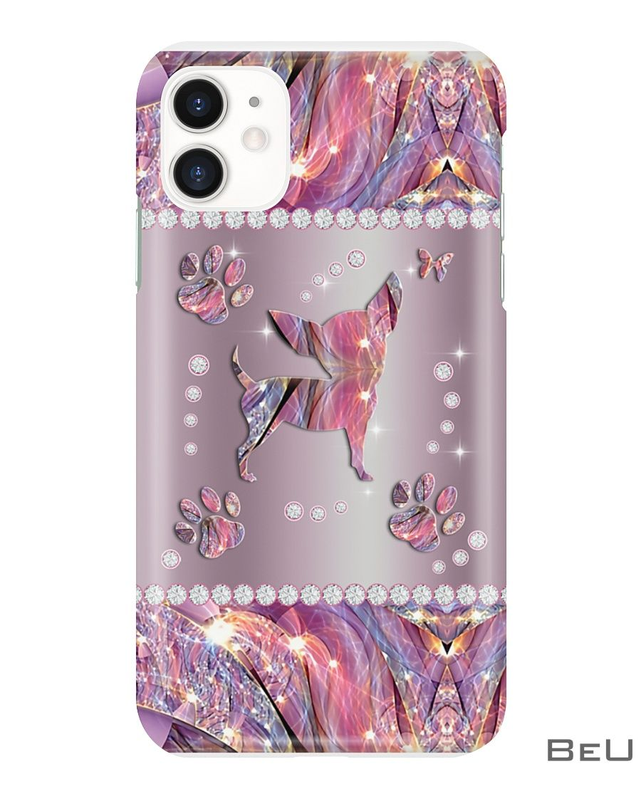 Chihuahua Pink Metal Pattern Phone Case1_result