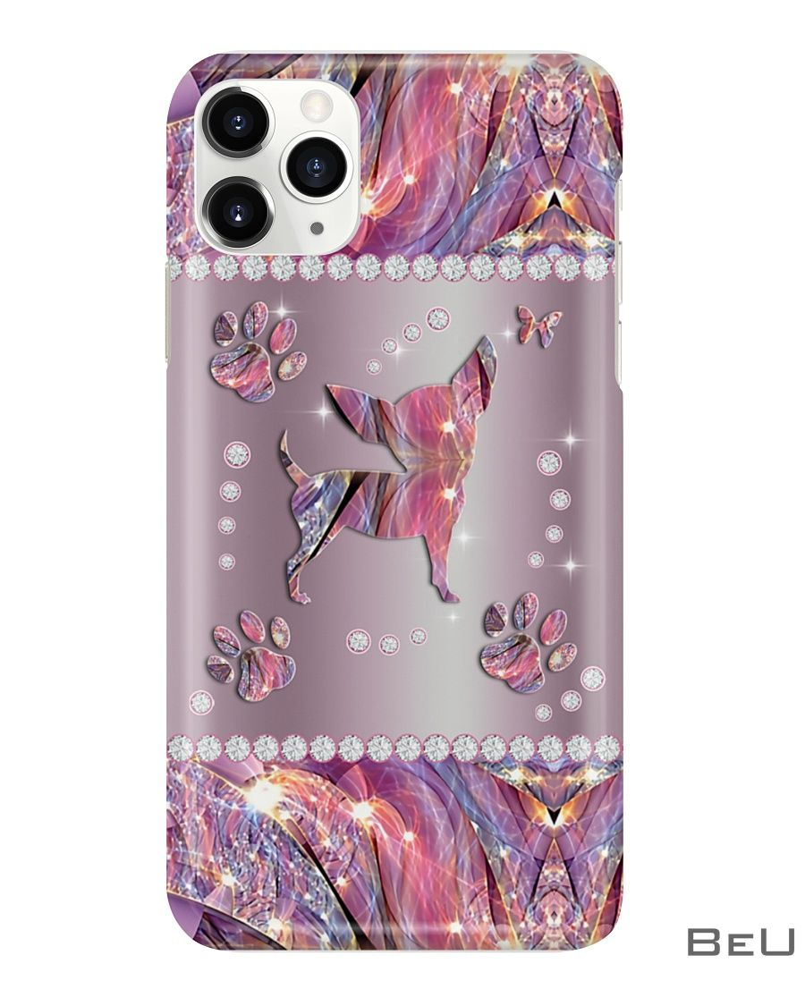 Chihuahua Pink Metal Pattern Phone Case2_result