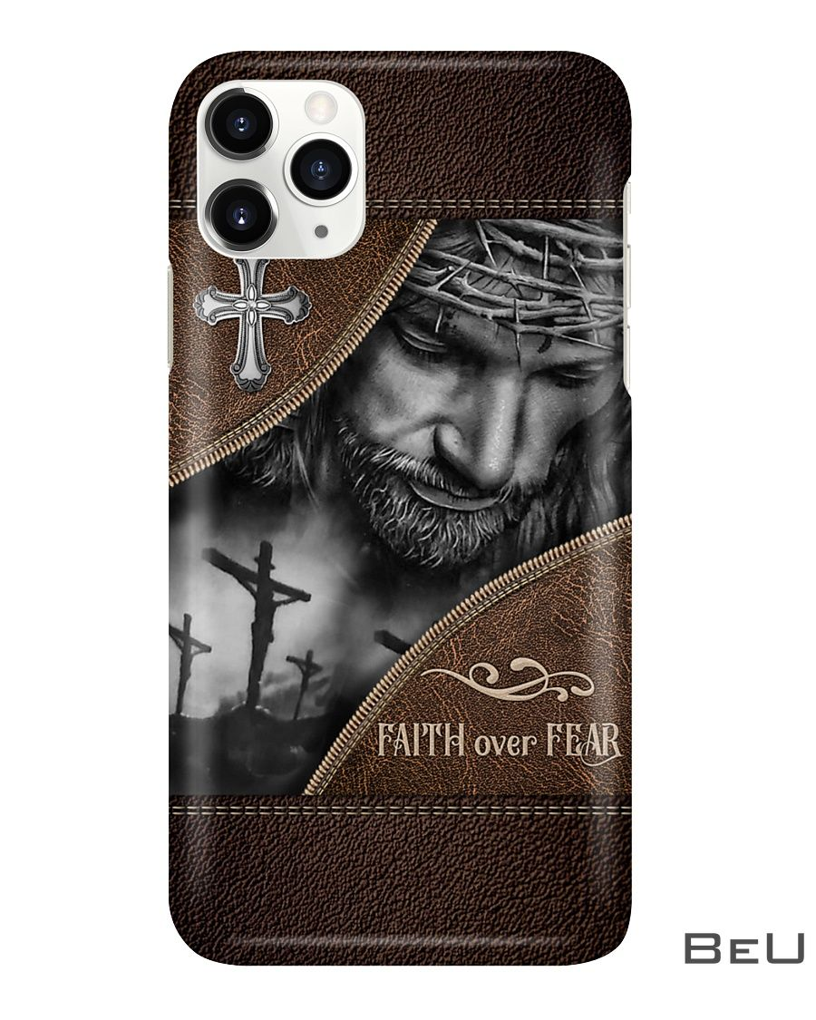 Faith Over Fear As Leather Phone Case3