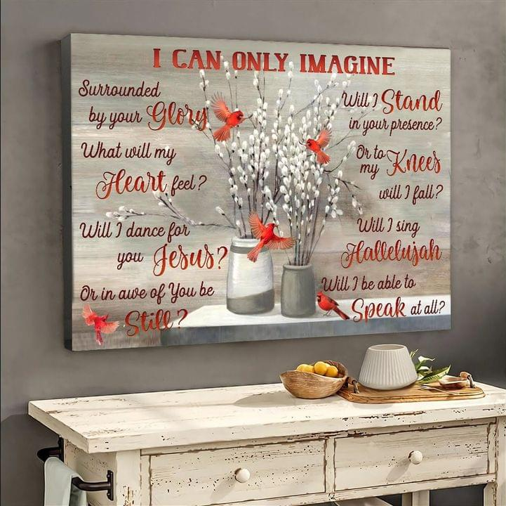 I Can Only Imagine Cardinal Bird Gallery Wrapped Canvas