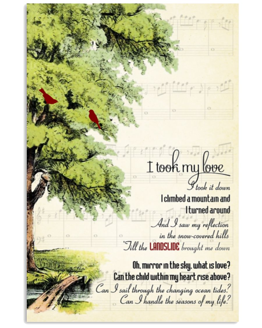 I took my love and I took it down poster