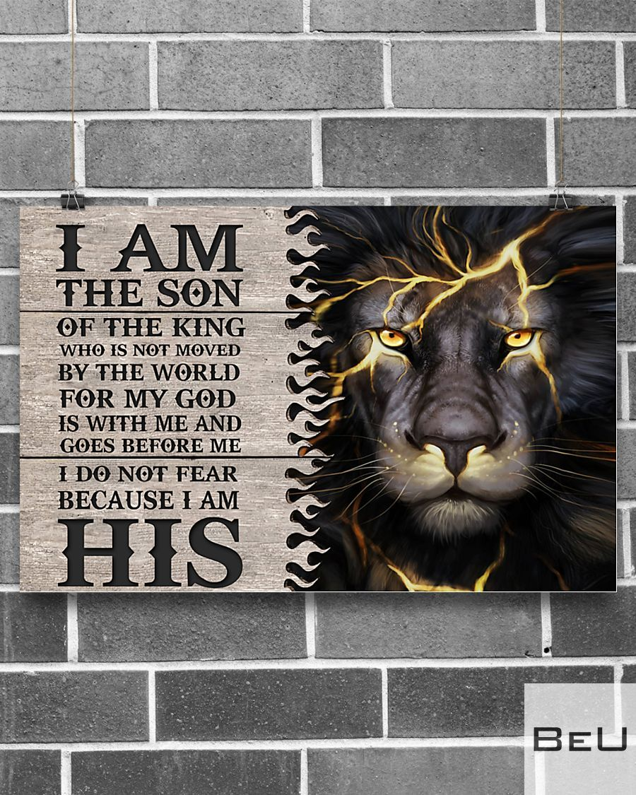 Lion I am the son of the king who is not moved by the world poster2