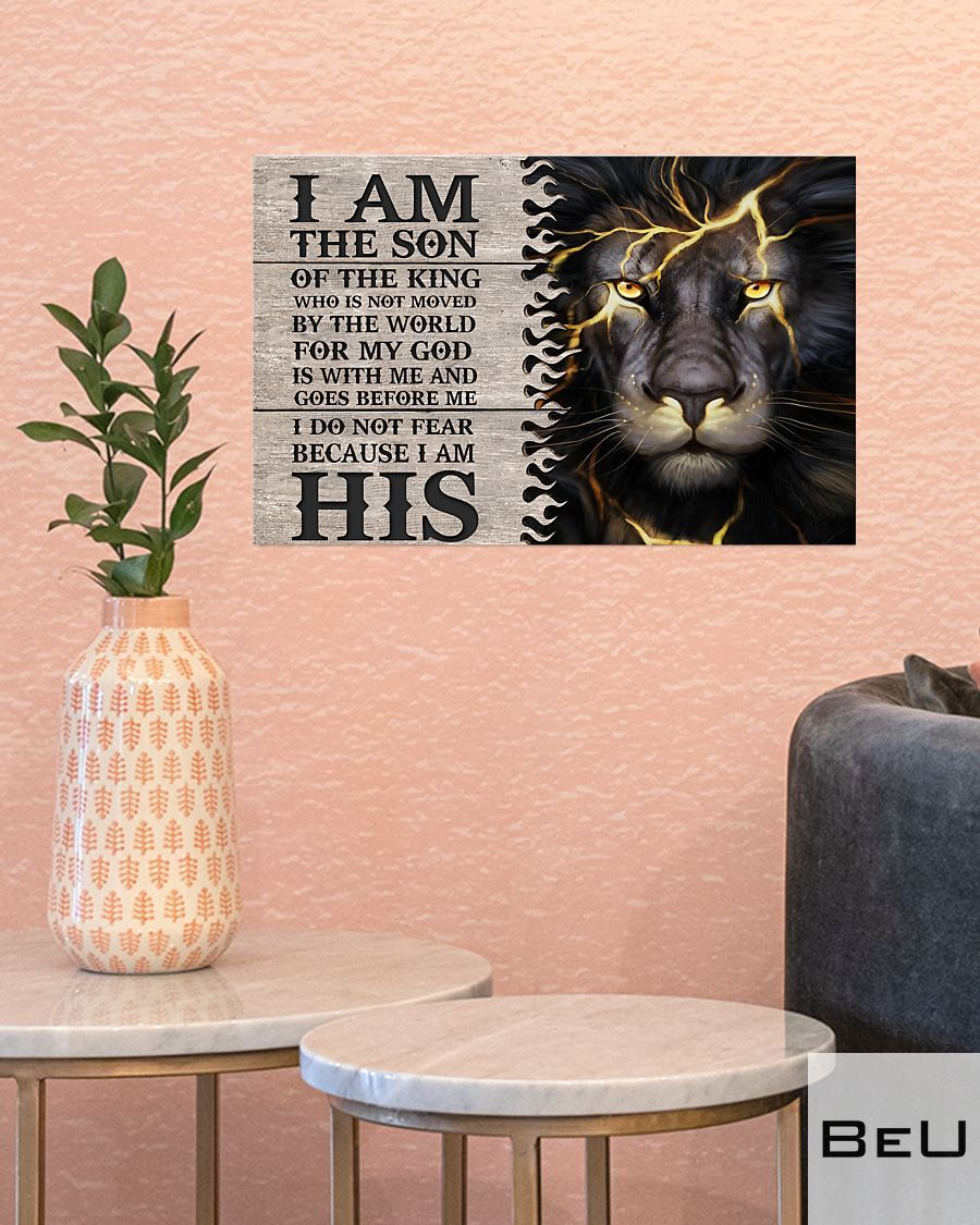 Lion I am the son of the king who is not moved by the world poster3