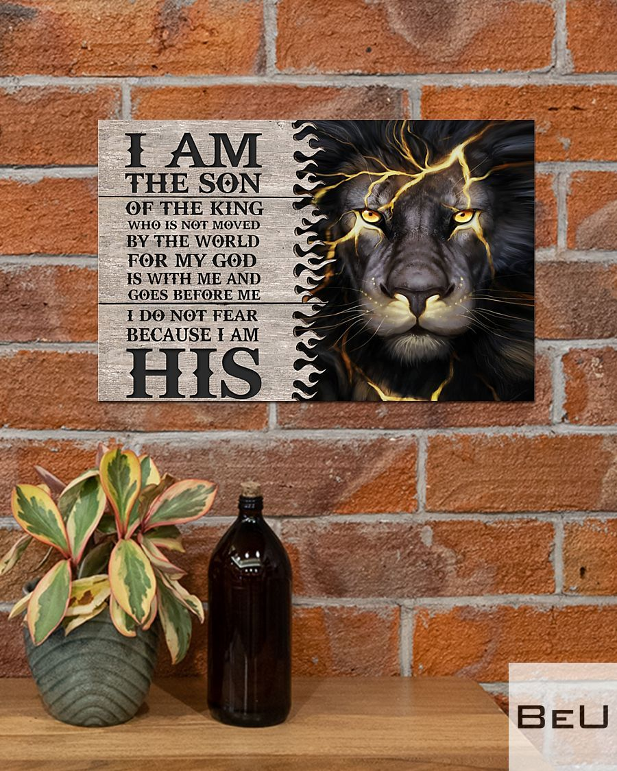 Lion I am the son of the king who is not moved by the world poster4