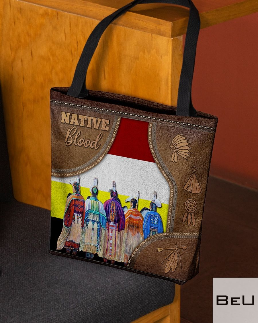 Native Blood as leather tote bag2