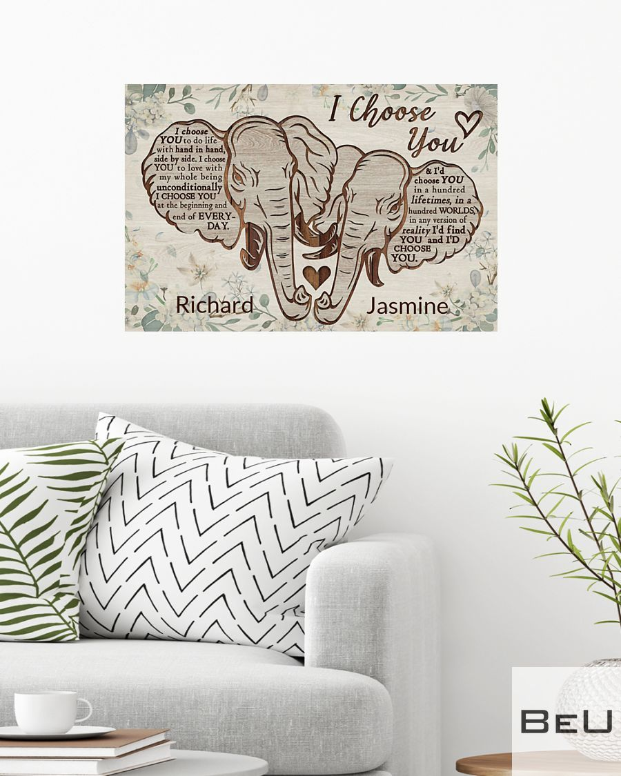 Personalized Elephant I Choose You Poster2