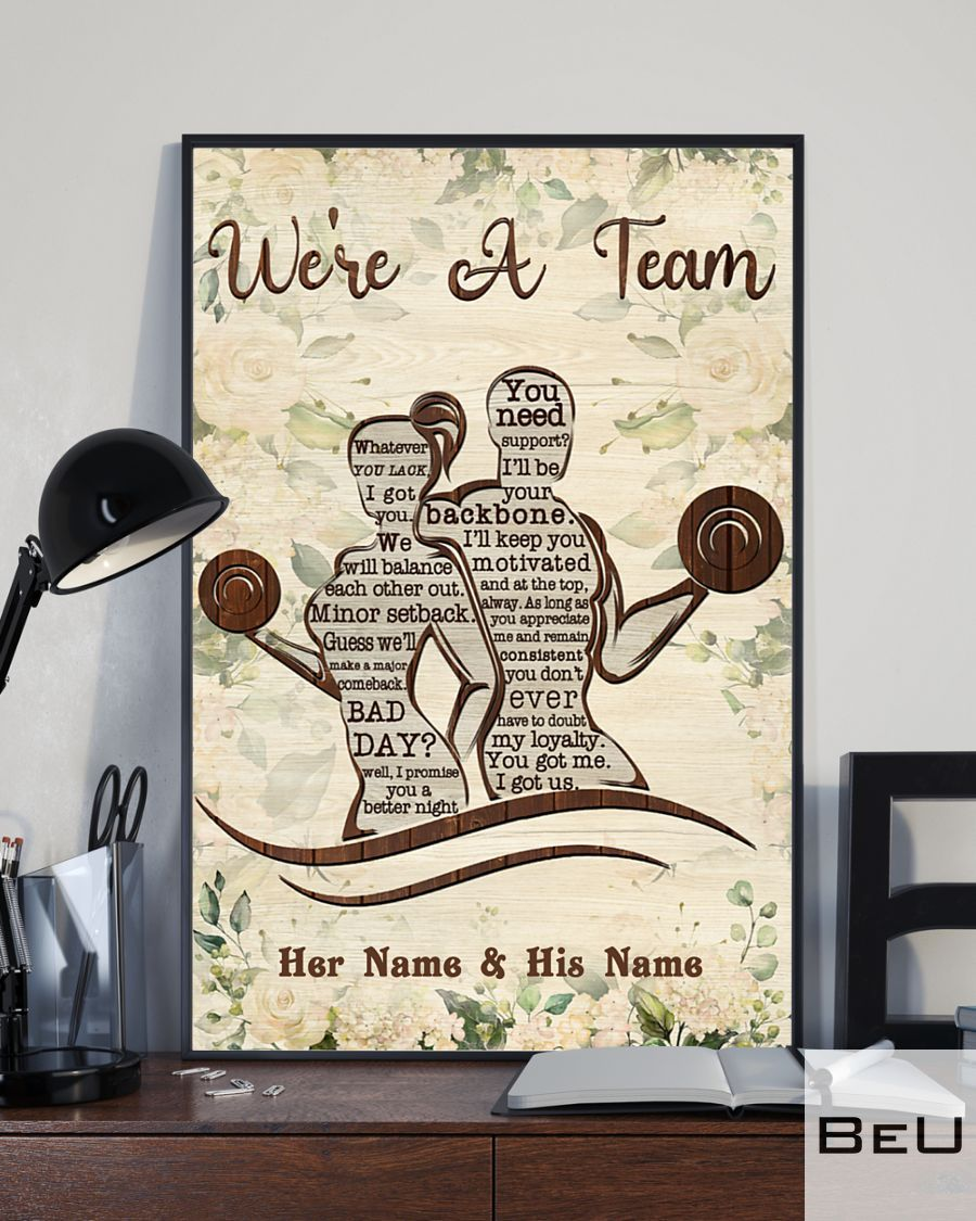 Personalized Fitness We're A Team Poster3