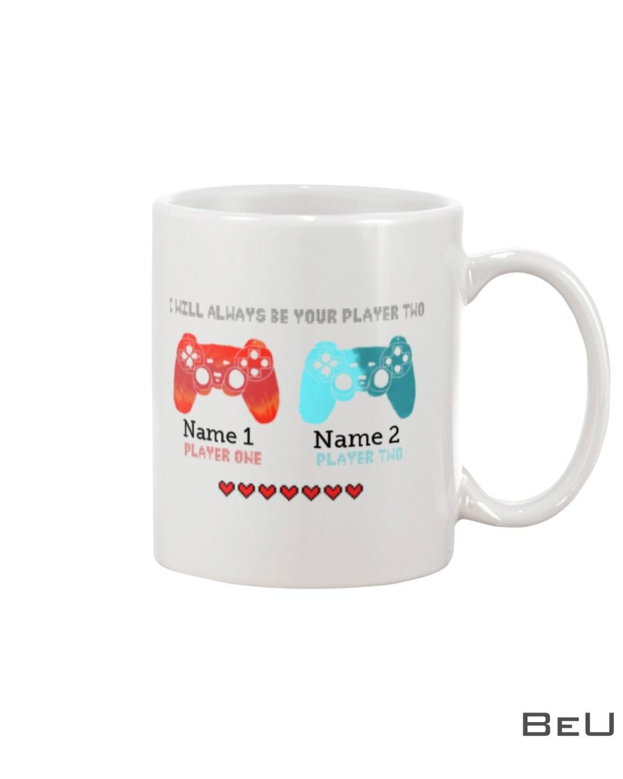 Personalized Game I will always be your player two mug_result